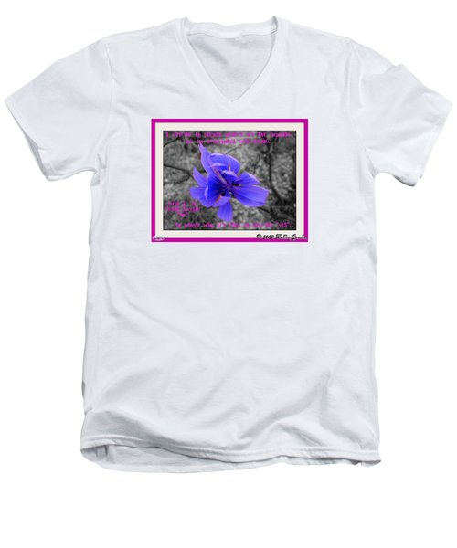 My Well-being Men's V-Neck T-Shirt by Holley Jacobs