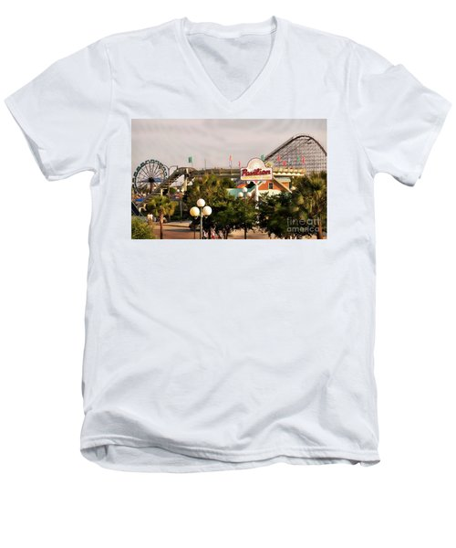 Myrtle Beach Pavillion Amusement Park Men's V-Neck T-Shirt
