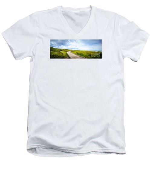 Myrtle Beach State Park Boardwalk Men's V-Neck T-Shirt