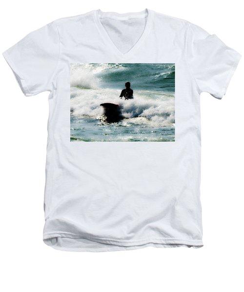 Men's V-Neck T-Shirt featuring the photograph Mystical Surf by Tara Lynn