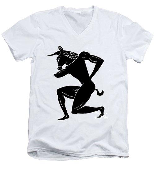 Mythology: Minotaur Men's V-Neck T-Shirt by Granger