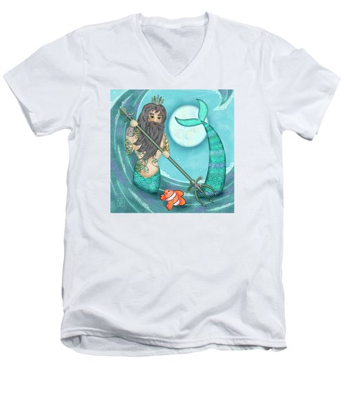 N Is For Neptune Men's V-Neck T-Shirt