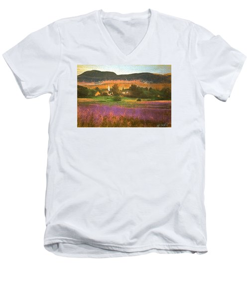 N. Troy Vt. Men's V-Neck T-Shirt