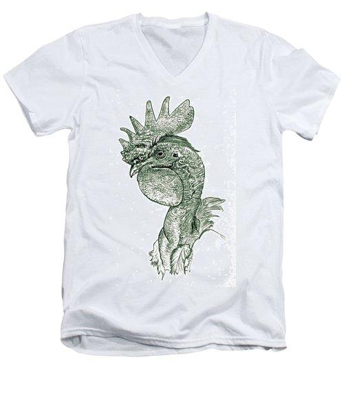 Naked Neck Rooster Men's V-Neck T-Shirt