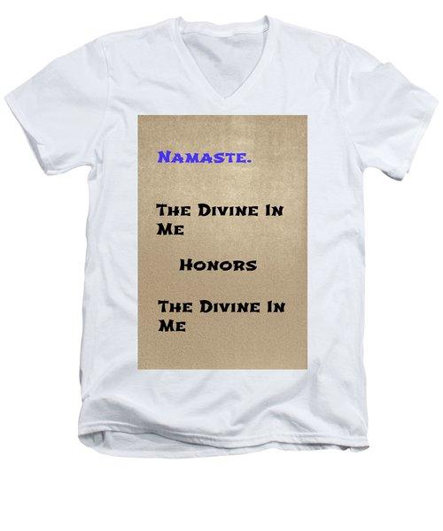Namaste #3 Men's V-Neck T-Shirt