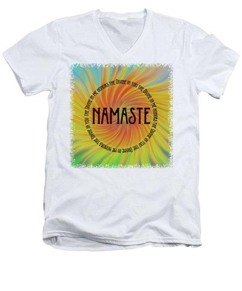 Namaste Divine And Honor Swirl Men's V-Neck T-Shirt