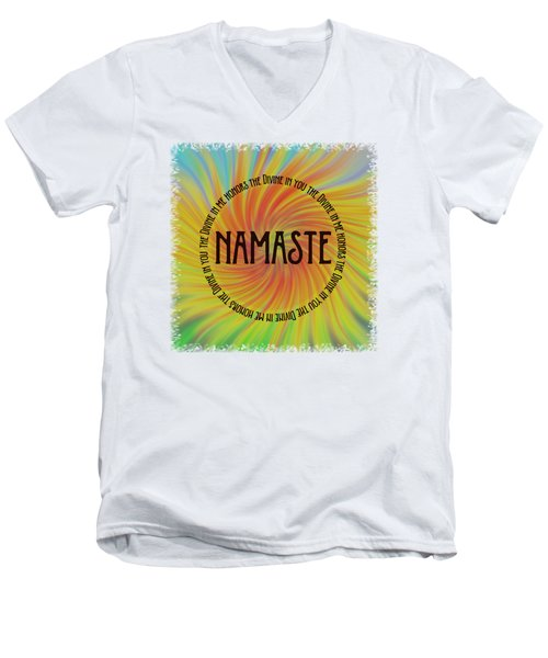 Namaste Divine And Honor Swirl Men's V-Neck T-Shirt