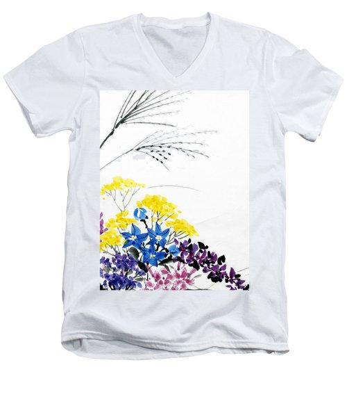 Nanakusa/ Autumn Seven Sisters Men's V-Neck T-Shirt