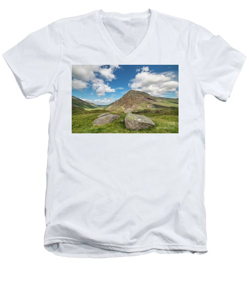 Men's V-Neck T-Shirt featuring the photograph Nant Ffrancon Valley, Snowdonia by Adrian Evans