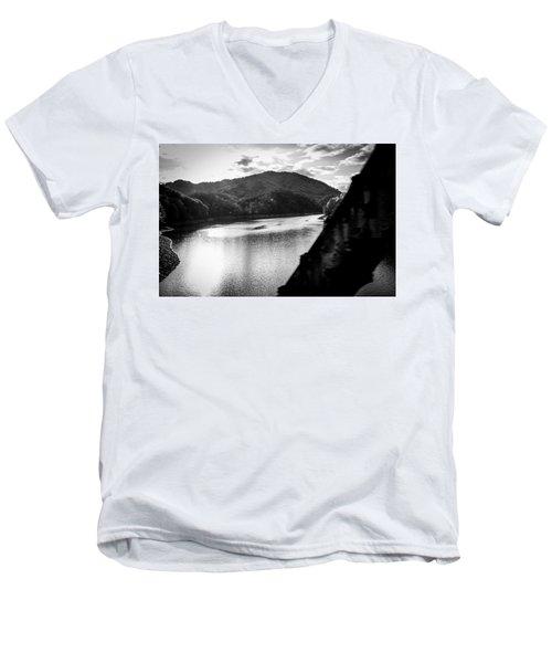 Nantahala River As Seen From The Great Smokey Mountain Railroad Men's V-Neck T-Shirt