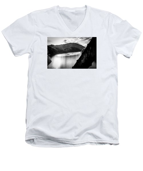 Nantahala River As Seen From The Great Smokey Mountain Railroad Men's V-Neck T-Shirt