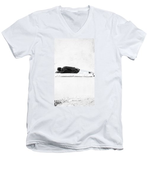 Men's V-Neck T-Shirt featuring the photograph Napha by Jez C Self