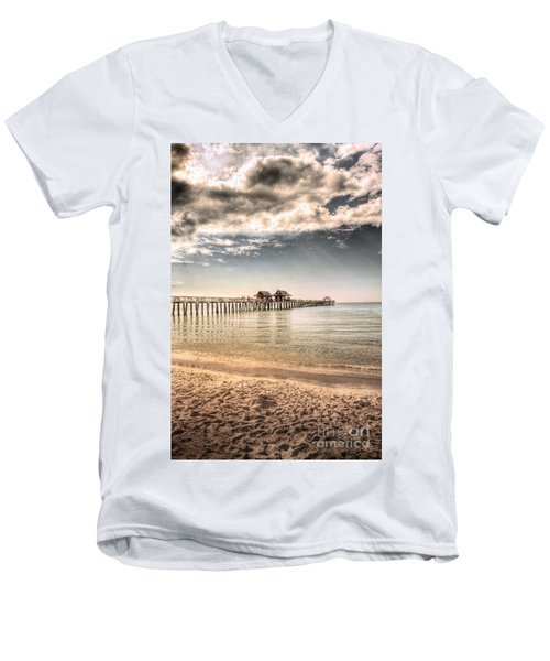 Naples Pier Men's V-Neck T-Shirt