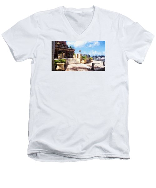 Naples Scenic Places Men's V-Neck T-Shirt by Rena Trepanier