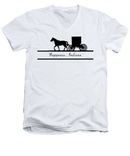 Nappanee Horse And Buggy Men's V-Neck T-Shirt