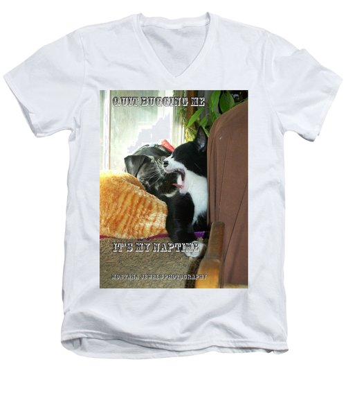Men's V-Neck T-Shirt featuring the photograph Naptime by Jewel Hengen