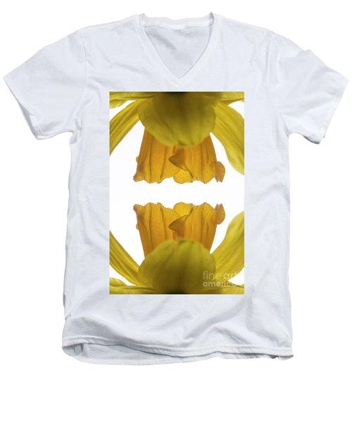 Narcissus Men's V-Neck T-Shirt by Ana Mireles