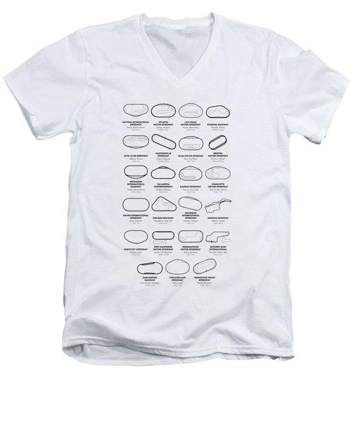 Nascar Racetracks 2018 Men's V-Neck T-Shirt