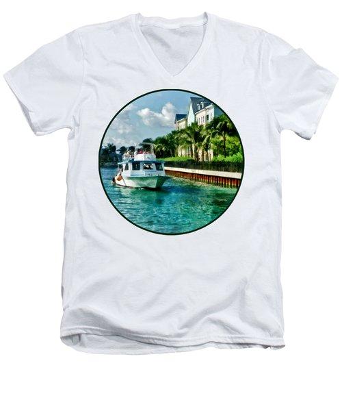 Bahamas - Ferry To Paradise Island Men's V-Neck T-Shirt