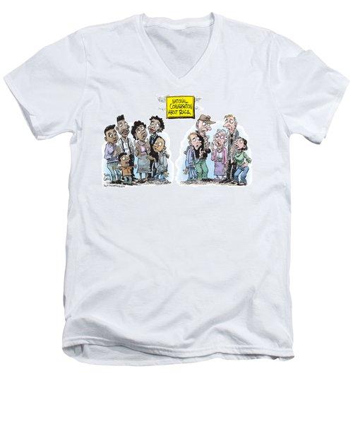 National Conversation About Race Men's V-Neck T-Shirt