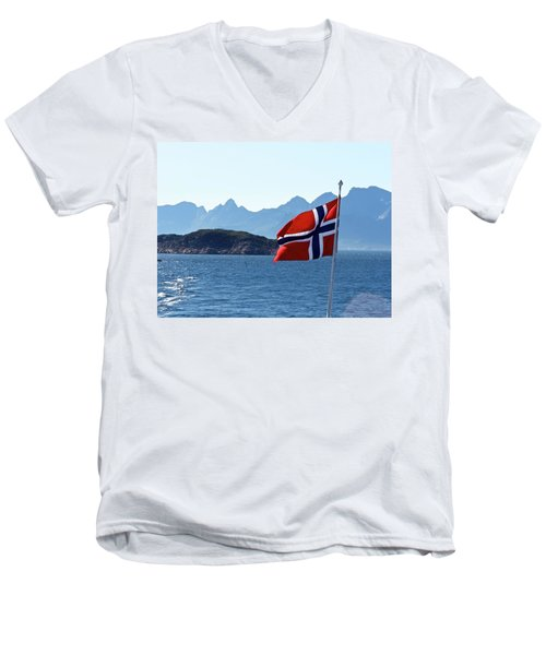 National Day Of Norway In May Men's V-Neck T-Shirt by Tamara Sushko