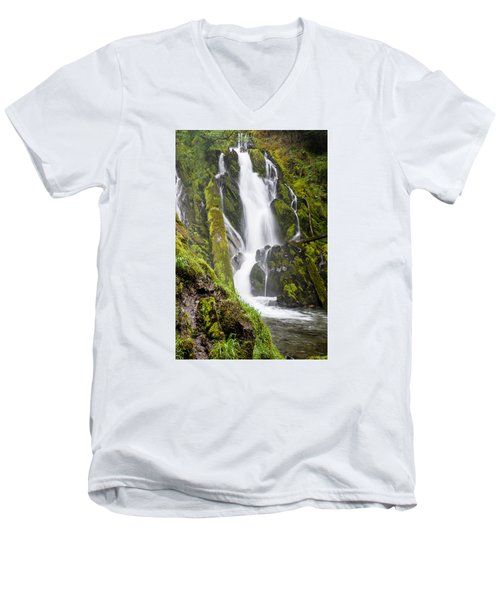 National Falls 1 Men's V-Neck T-Shirt by Greg Nyquist