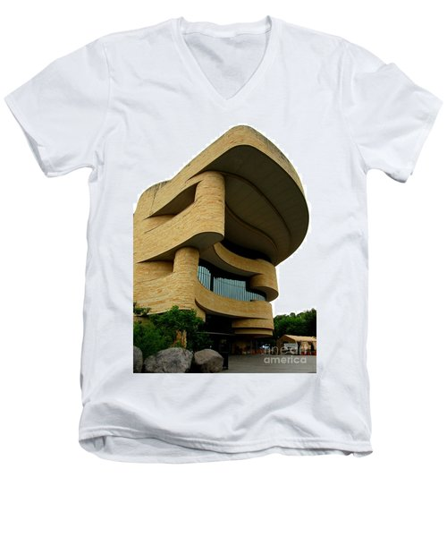 National Museum Of The American Indian 1 Men's V-Neck T-Shirt by Randall Weidner