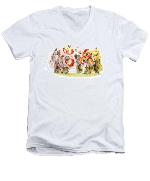 Native Color In Motion Men's V-Neck T-Shirt