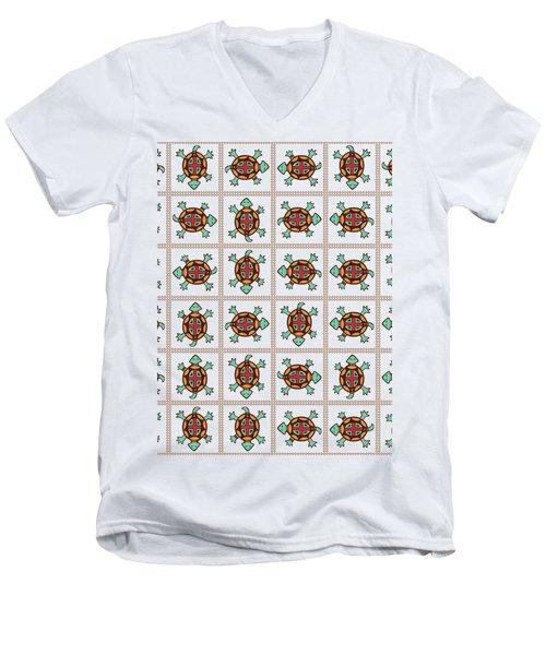 Native American Pattern Men's V-Neck T-Shirt