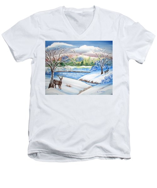Natural Beauty Men's V-Neck T-Shirt by Luis F Rodriguez