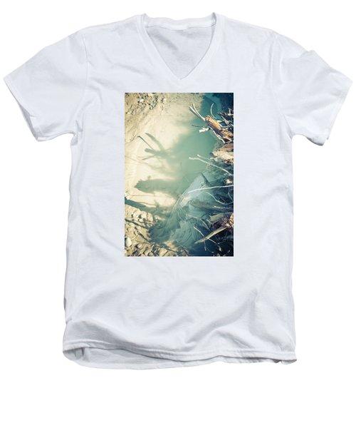 Natural Fantasmigoria Men's V-Neck T-Shirt by Michele Cornelius