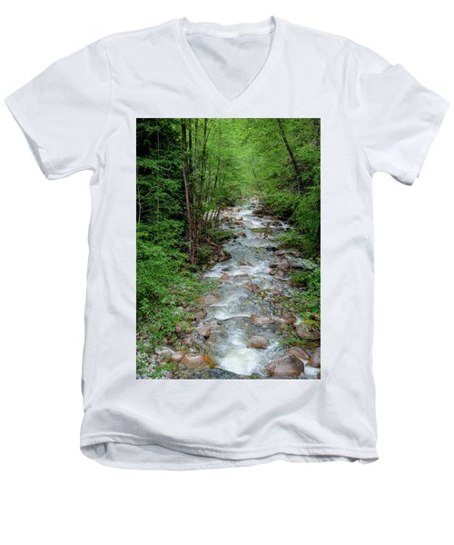 Naturally Pure Stream Backroad Discovery Men's V-Neck T-Shirt