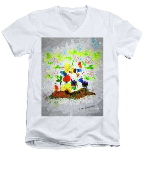 Nature Fantasy Trees Men's V-Neck T-Shirt