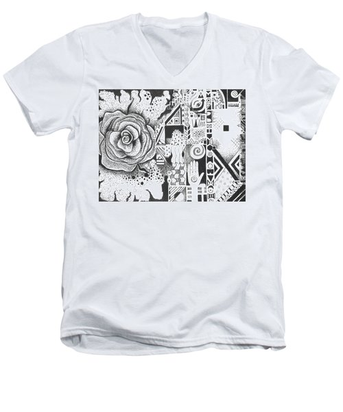 Nature Rules Aka That Which Remains Men's V-Neck T-Shirt by Helena Tiainen