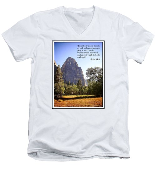 Men's V-Neck T-Shirt featuring the photograph Natures Cathedral by Glenn McCarthy Art and Photography
