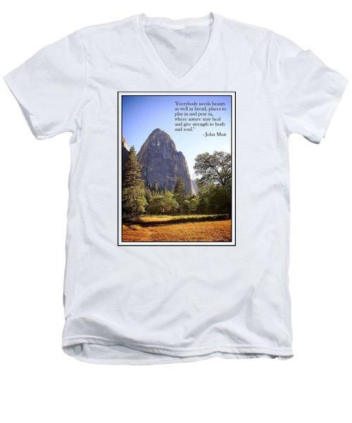 Natures Cathedral Men's V-Neck T-Shirt