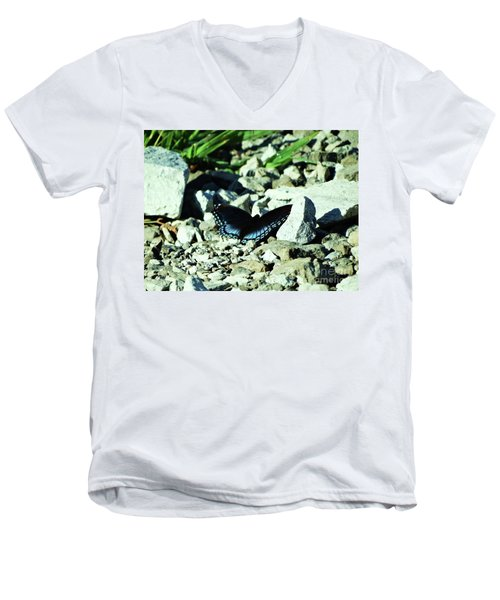 Men's V-Neck T-Shirt featuring the photograph Nature's Cloak Of Color by J L Zarek