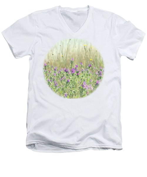 Men's V-Neck T-Shirt featuring the photograph Nature's Graffiti by Linda Lees