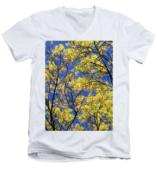 Men's V-Neck T-Shirt featuring the photograph Natures Magic - Original by Rebecca Harman