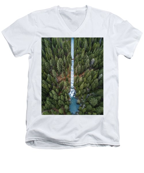 Natures Waterslide  Men's V-Neck T-Shirt