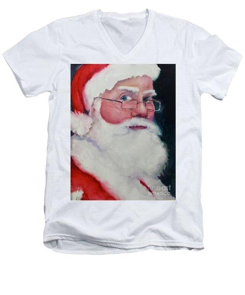 Naughty Or Nice ? Santa 2016 Men's V-Neck T-Shirt