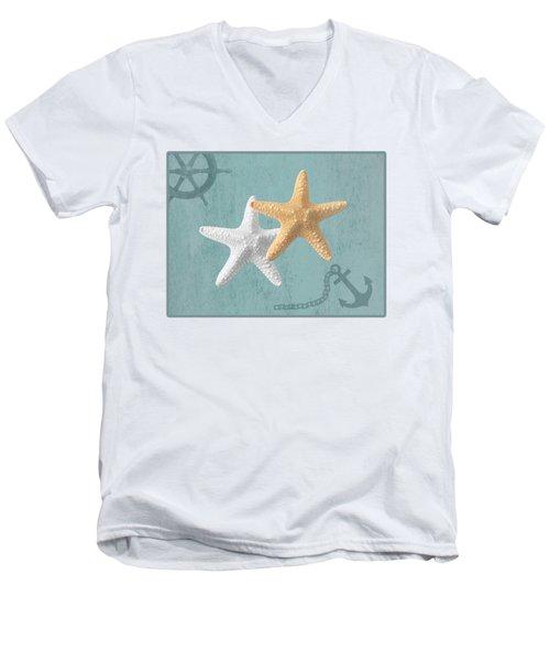 Nautical Stars Men's V-Neck T-Shirt