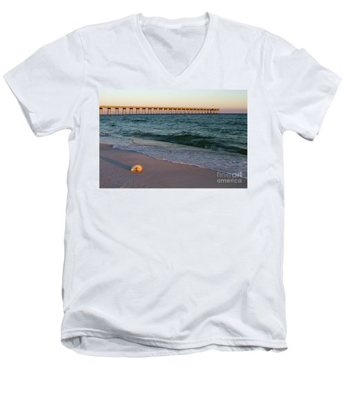 Nautilus And Pier Men's V-Neck T-Shirt