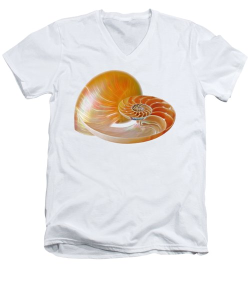 Nautilus Golden Glow Men's V-Neck T-Shirt