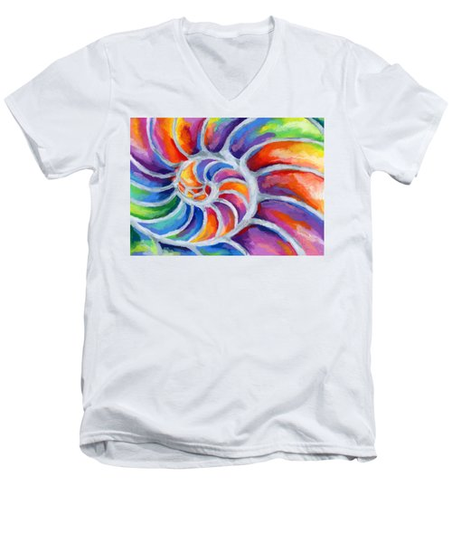 Nautilus Men's V-Neck T-Shirt by Stephen Anderson