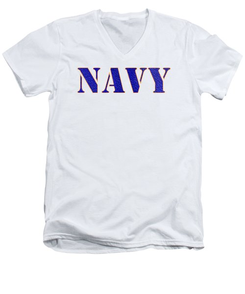 Navy Men's V-Neck T-Shirt by George Robinson