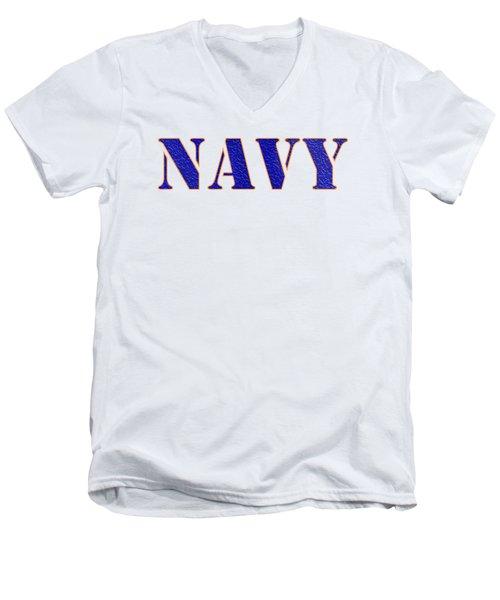 Navy Men's V-Neck T-Shirt