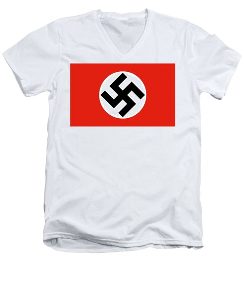 Nazi Flag 1920-1945 Men's V-Neck T-Shirt
