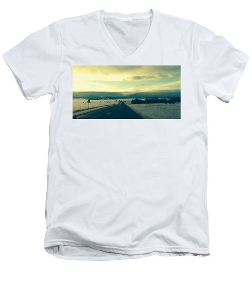 Men's V-Neck T-Shirt featuring the photograph Near Hartsel by Christin Brodie