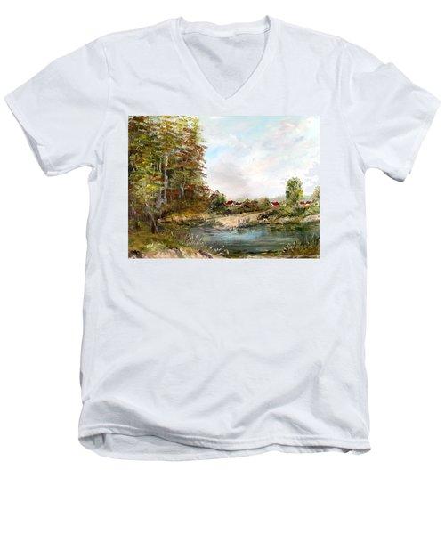 Near The Pond Men's V-Neck T-Shirt